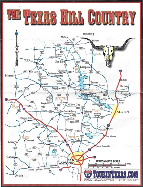 texas hill country road trip map classic car myrod