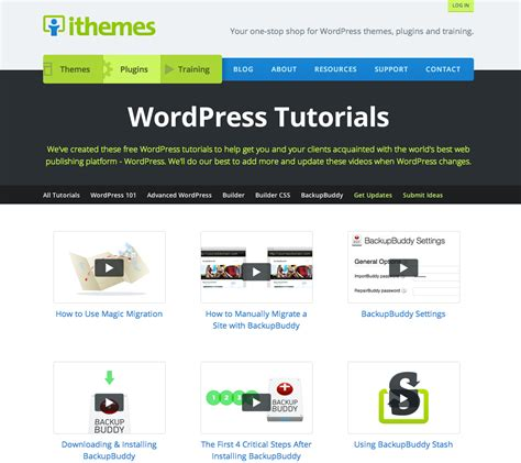 wordpress tutorial lessons new ithemes tutorials hub rolls out with 63 new wordpress