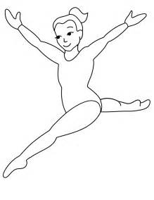 free printable gymnastic floor event coloring page