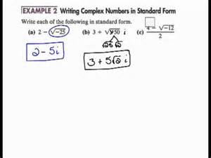 writing complex numbers in standard form 6 8