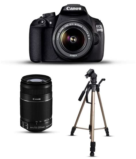 Canon 1200d Kit 1 canon eos 1200d with 18 55mm 55 250mm lens combo tripod lens cleaner 16gb memory card