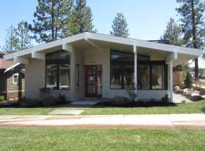 mid century style home mid century modern house plan bend oregon mcm exterior pinterest modern house plans