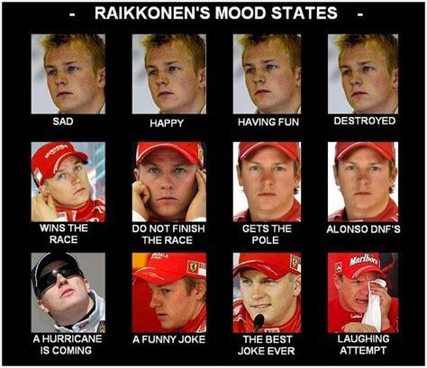 The faces of Kimi Raikkonen : formula1