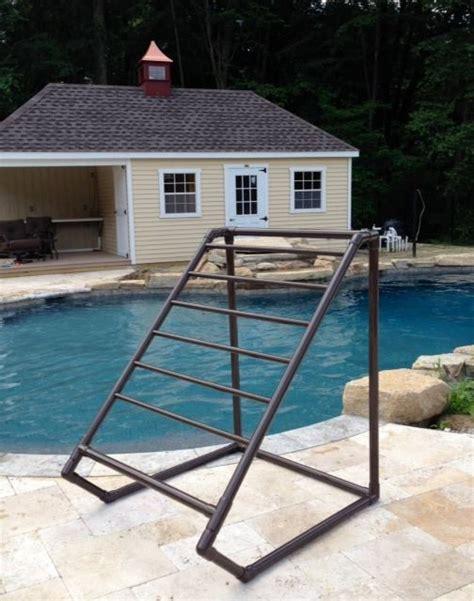 Outdoor Pool Towel Rack by Bronze 8 Bar Tranquility Towel Rack