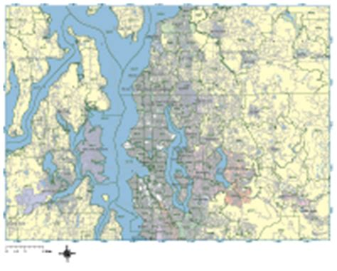seattle map with zip codes seattle digital vector maps editable