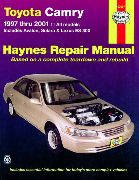 manual repair free 1997 toyota avalon user handbook toyota camry 97 01 haynes owners workshop manual toyota