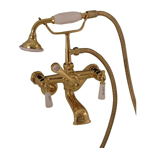 Home Depot Clawfoot Tub Faucet by Claw Foot Tub Faucet With Shower Polished Brass