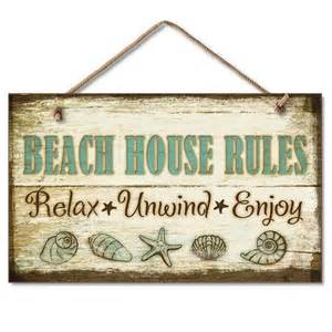 Buy Wooden Beach House Rules Sign 10 Inch Nautical Home Decor