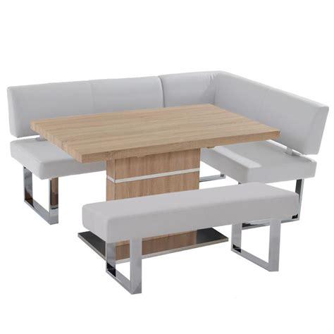 white corner bench lorange linden white corner nook set w bench el dorado