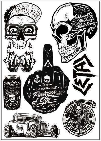 Cutting Sticker Helm Ink by Yourart Motorcycle Stickers Moto Decals Helmet Stickers
