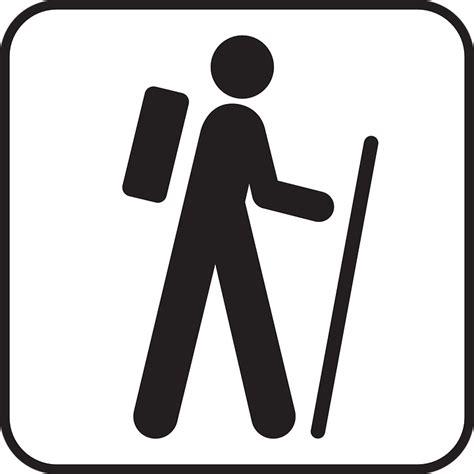 Wandlen Schwarz by Kostenlose Vektorgrafik Wandern Rucksack Symbol