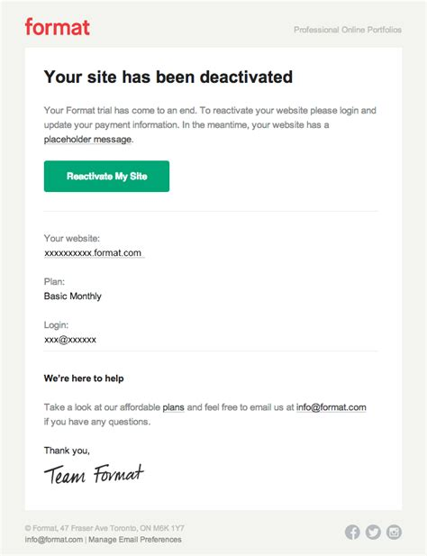 Email From God your site is inactive really emails
