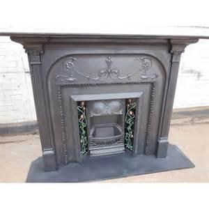 fireplace surround original cast iron antique