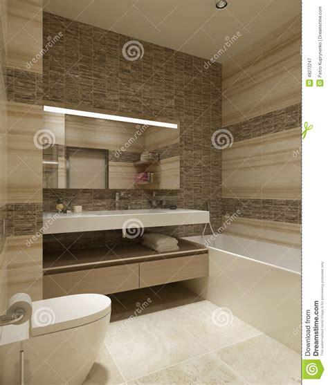 bagno contemporaneo bagno di stile contemporaneo illustrazione di stock