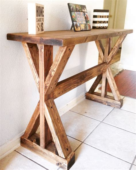 Rustic Hallway Table Rustic X Entryway Table Do It Yourself Home Projects From White Entry Way Tutorials