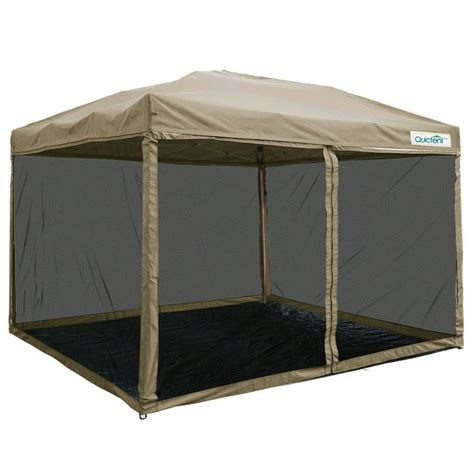 canopy tent with awning quictent 8 x8 ez pop up gazebo party tent canopy mesh