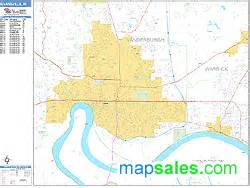 Evansville Zip Code Map by Evansville Indiana Zip Code Wall Map Basic Style By