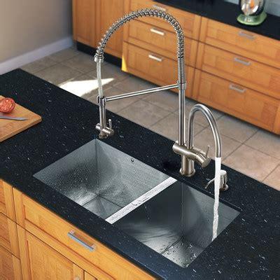 Kitchen Sink Aerator Vigo 32 Quot X 19 Quot Zero Radius Bowl Kitchen Sink With Aerator Faucet Reviews Wayfair