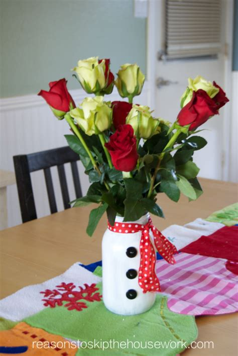 christmas decorations to make at home snowman vase reasons to skip the housework