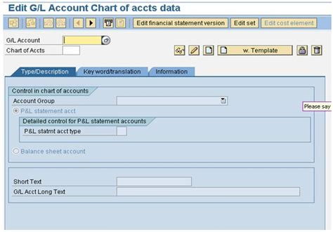 Sap Gl Account Table by Learn How To Create An Sap General Ledger Account For Coa