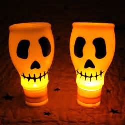 Halloween Crafts With Milk Jugs - lighted skulls from recycled materials dollar store crafts