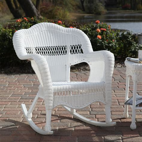 Wicker Rocking Chairs White Wicker Patio Chairs