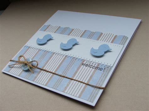 Handmade New Baby Cards - birthday welcome handmade new baby boy card a