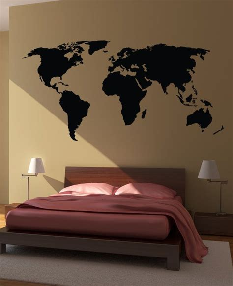 World Map In Bedroom by Bedroom Wall Stickers For Creating Creativity Bedroom