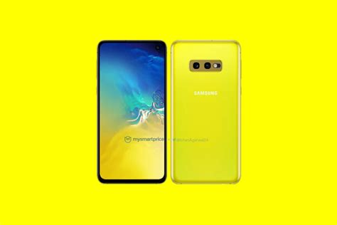 Samsung Galaxy S10 Yellow by Samsung Galaxy S10e Shown In Bright Quot Canary Yellow Quot Color