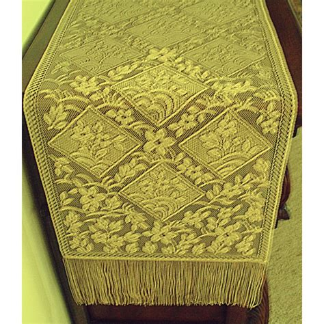gold lace table runner table runner chantilly gold 14x102 heritage lace
