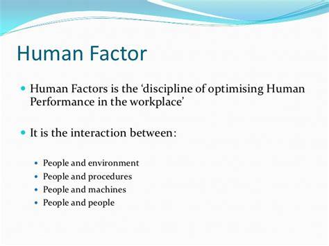Human Factor human factor basic