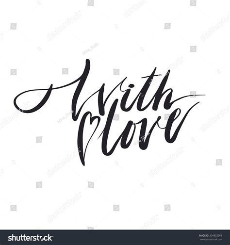 with lettering handmade calligraphy stock vector