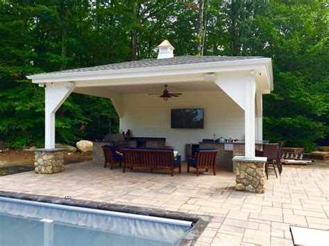 Small Backyard Decks Patios Pool Houses And Patios Guilford Ct Heritage Home