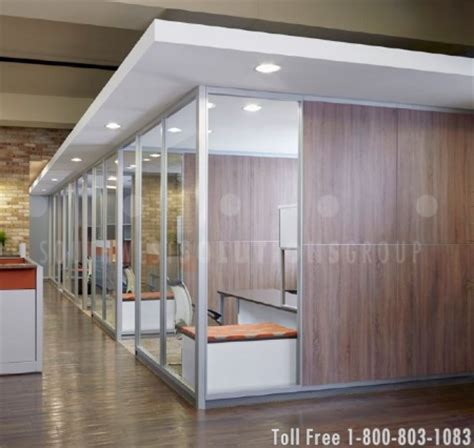 bank uses modular walls to create private offices