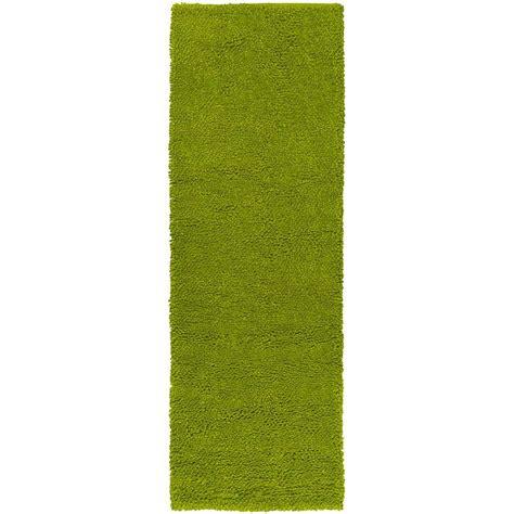 lime green runner rug artistic weavers cambridge lime green 2 ft 6 in x 8 ft rug runner clarkson 268 the home depot