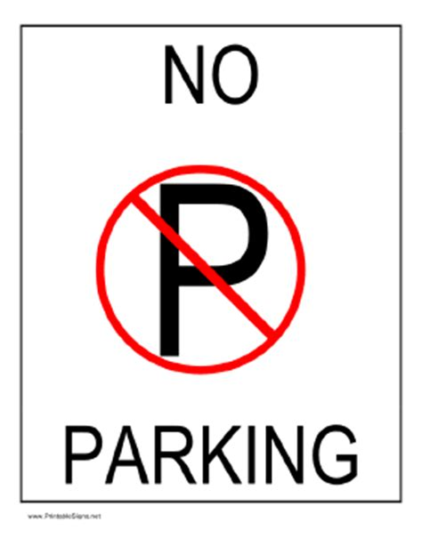 Photo Printable Lined Paper Images No Parking Template Word