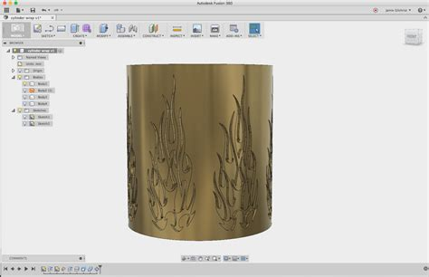 pattern sketch fusion 360 fusion 360 wrap sketch around cylinder and extrude