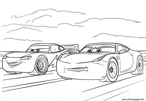 Mcqueen And Ramirez From Cars 3 Disney Coloring Pages