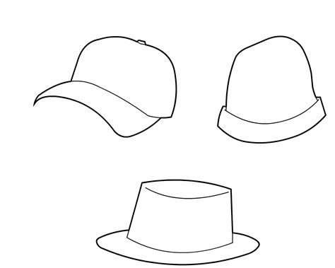 hat outline template hat templates new calendar template site