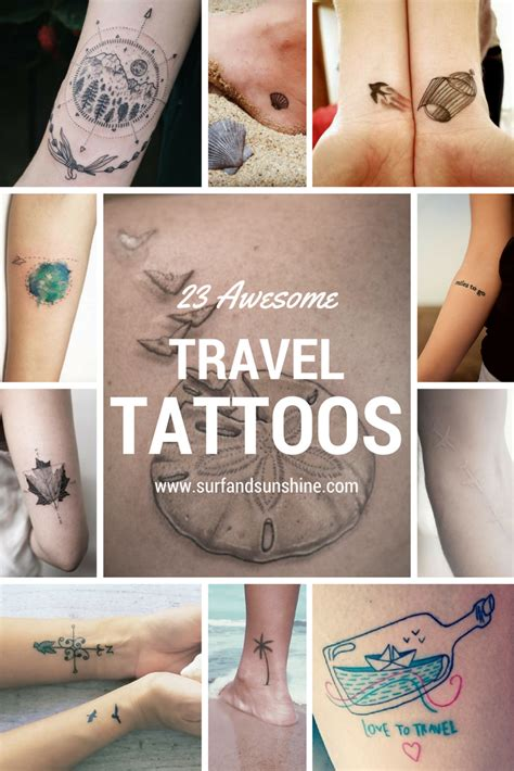 travel tattoo ideas 23 inspiring and awesome travel ideas