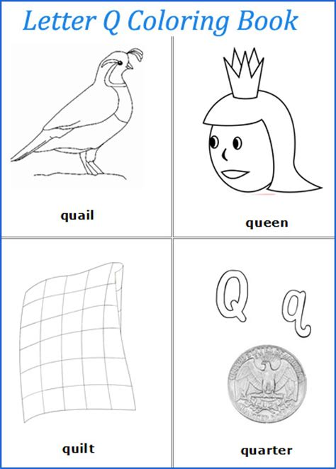 5 Letter Words Beginning With Q 5 best images of printables for preschool letter q