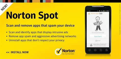 norton for android norton spot helps protect android phones from madware