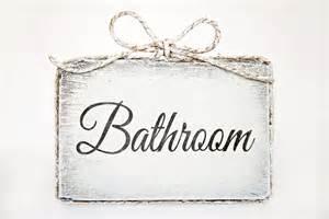 Cute Bathroom Signs For Home Cute Handmade Wooden Bathroom Door Sign Bathroom Home