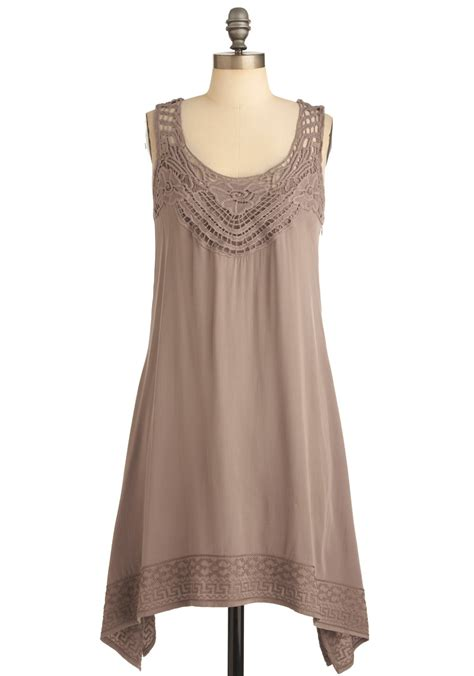 Taupe Summer by Sign Me Up Dress In Taupe Mod Retro Vintage Dresses