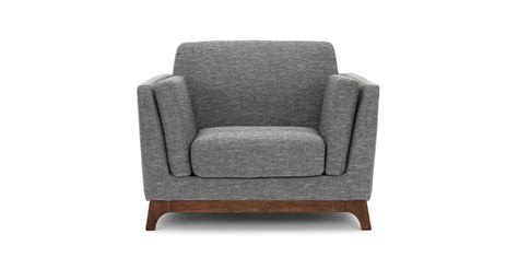 gray armchair ceni volcanic gray armchair lounge chairs article modern mid century and