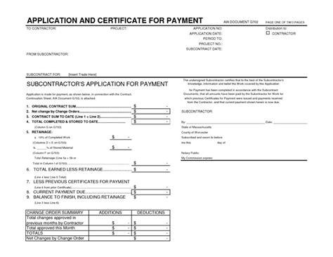 09 Progress Payments Cm Ii Subcontractor Application Template