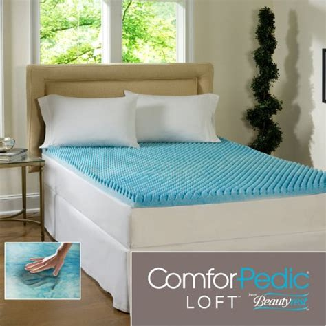 bed toppers amazon beautyrest 3 inch sculpted gel memory foam mattress topper