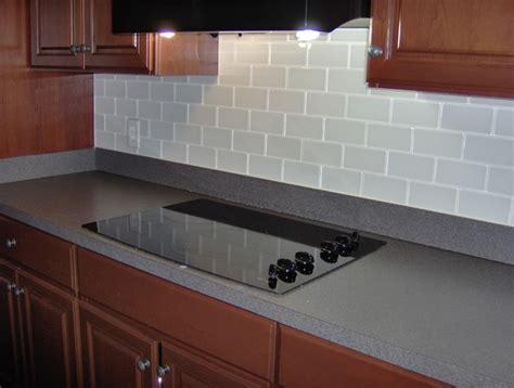 Glass subway tile back splash   Traditional   Kitchen