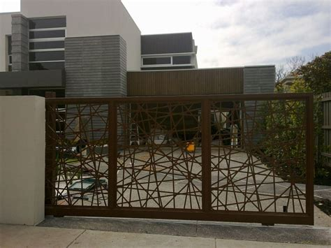modern house steel gate make a statement by choosing the right gates for your home junk mail
