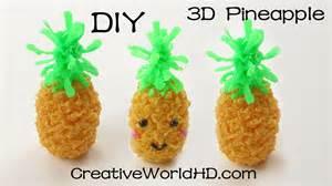 how to make kawaii pineapple 3d printing pen creations